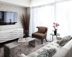 Queensway living, Interior Design Vancouver contemporary-living-room