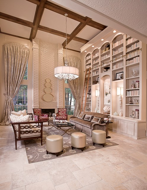 Superieur Transitional Living Room Photo In Houston