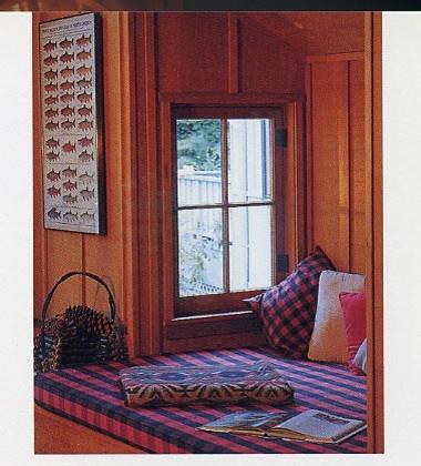 Quiet Water Cabins eclectic-living-room