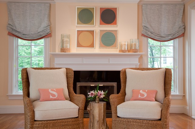 Quietly Colorful Living Room transitional-living-room