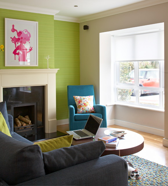Quirky house renovation eclectic living room dublin for House interior design event dublin