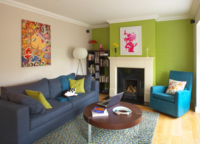 Quirky house renovation eclectic living room dublin Modern eclectic living room