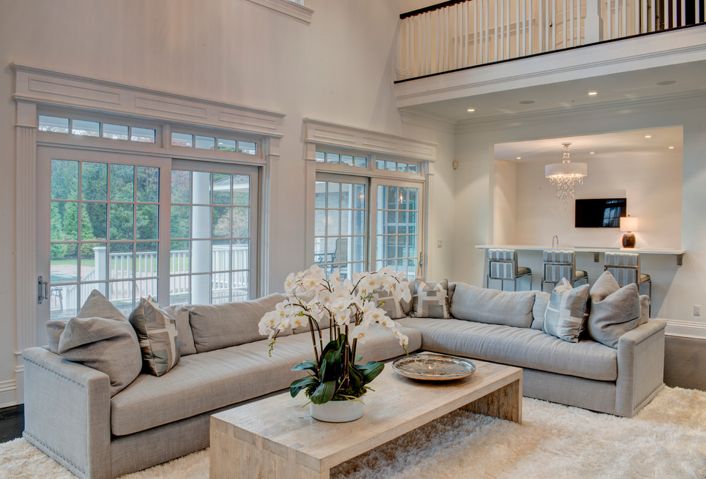 Quogue   Transitional   Living Room   New York   By Amy Hill ...