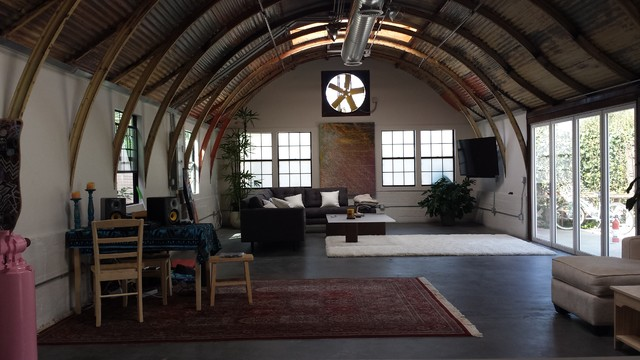Quonset Hut Oceanside Eclectic Living Room San