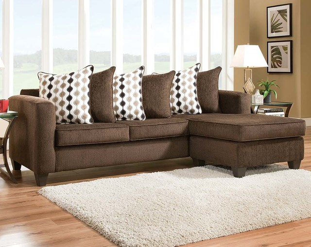 American Freight Furniture And Mattress · Furniture U0026 Accessories. Radar  Mahogany Two Piece Sectional Sofa Transitional Living Room
