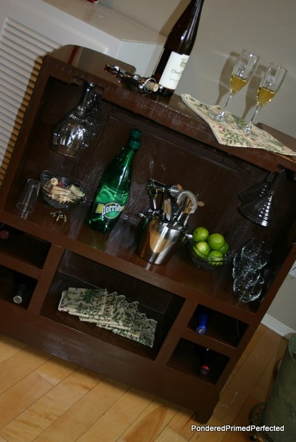 Radio cabinet mini bar eclectic living room portland for Living room 6 portland