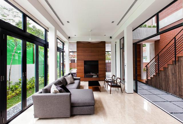 Railway House contemporary-living-room