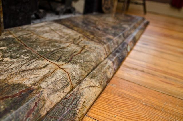Rainforest Brown Granite : Rainforest green granite leathered antique brown