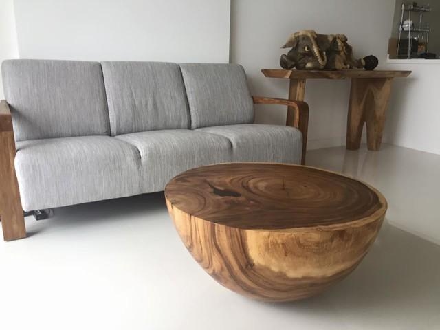 Raintree Wood Half Ball Coffee Table Scandinavian Living Room