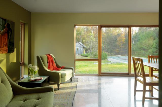 raised ranch retrofit  contemporary  living room