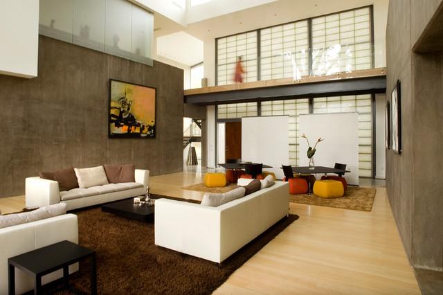 Ramchandani Residence modern-living-room