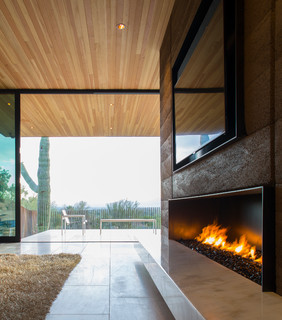 Rammed Earth Modern - Contemporary - Living Room - phoenix - by Kendle Design Collaborative