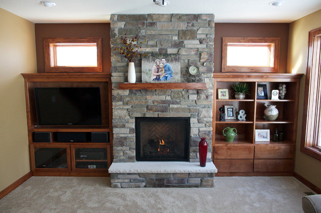 Ramsey mn fireplace traditional living room for Ramsey fireplace