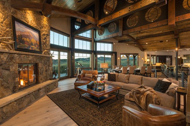 Ranch Home at Marabou - Rustic - Living Room - Denver - by ...