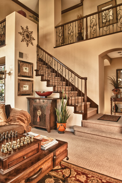 Rancho Carrillo, Carlsbad Redesigned Staircase eclectic-staircase