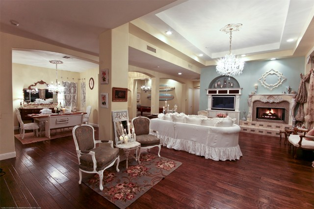 Rancho Mirage Shabby Chic Residence - Shabby chic - Living ...