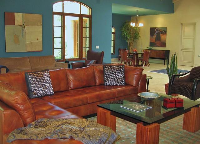 Rancho Santa Fe Colorful Contemporary Contemporary Living Room San Diego By Robbie Interiors