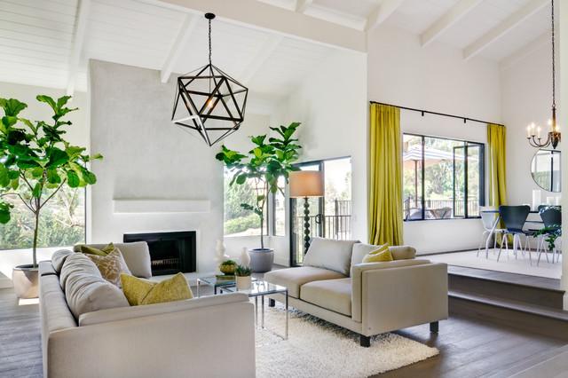 Rancho santa fe modern hacienda for Woonkamer lamp modern
