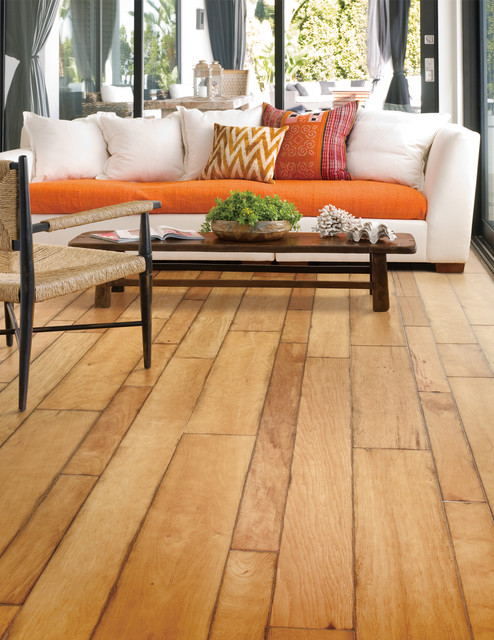 Random-Width and Wire-Brushed Hickory Flooring. Montpelier ...