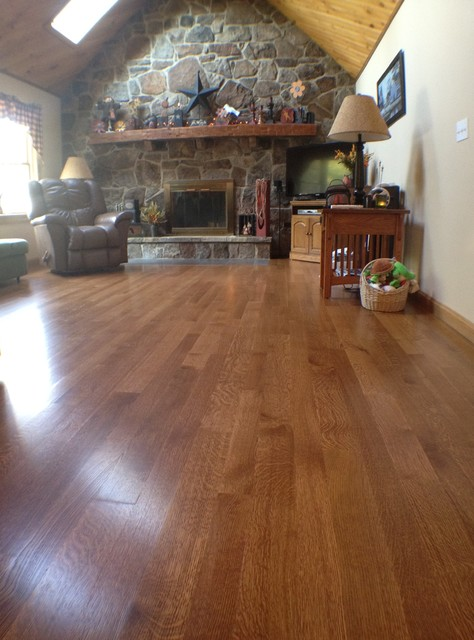 R Amp Q White Oak Clear Traditional Living Room Other