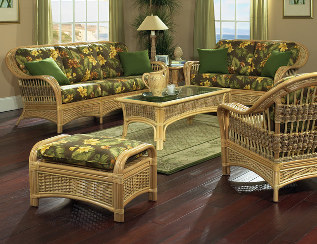 Rattan Furniture Tropical Breeze Style Tropical Living Room New York By Wicker Paradise