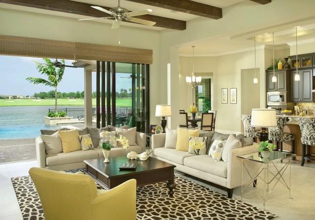 tropical living room. Ravello Florida s Treasure Coast New Luxury Custom Home Community tropical  living room