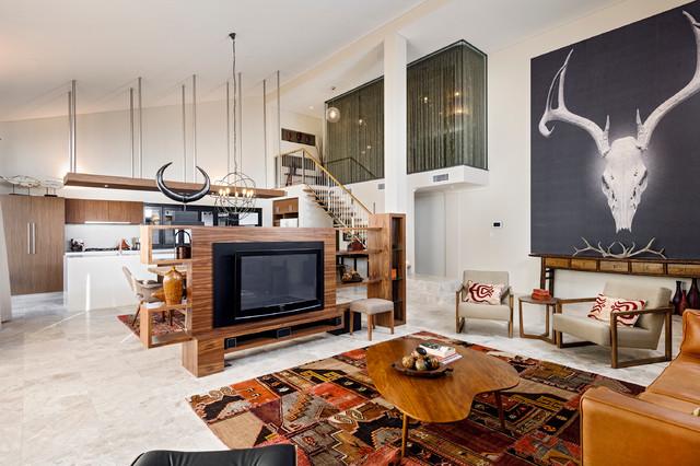 Rbc Bletchley Loft Open Living Contemporary Living Room