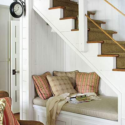 Reading Nook from Southern Living traditional living room