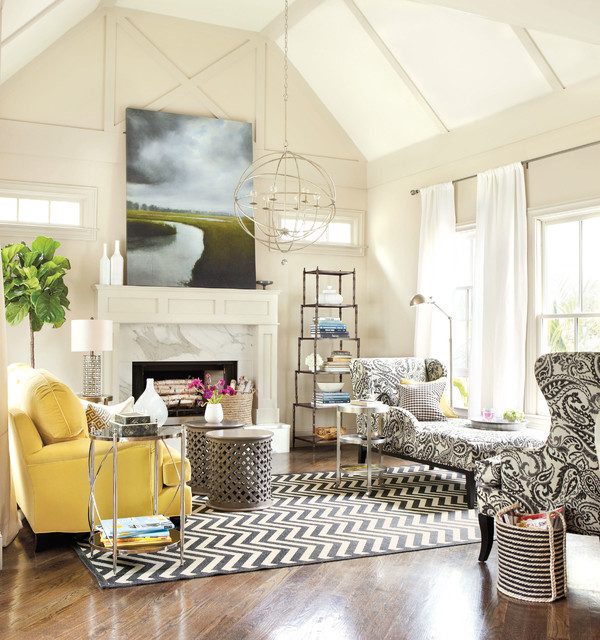 Real simple living room contemporary living room for Living room atlanta