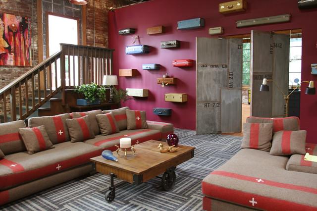 Real World Portland Industrial Living Room