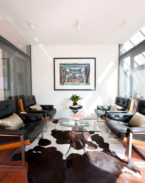 Reception Midcentury Living Room Hampshire By WALK INTERIOR ARCHITECT
