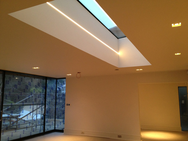 Recessed lighting extensions : Recessed lighting in modern extension