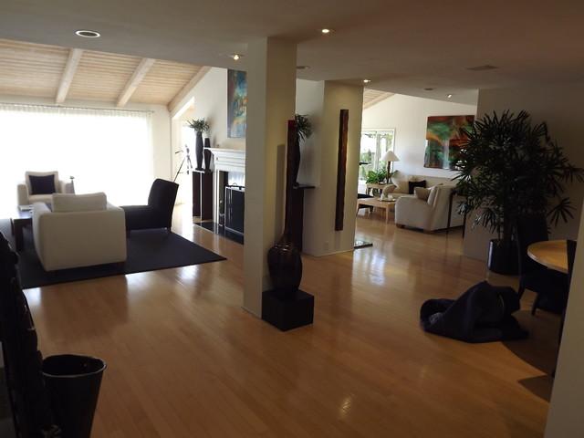Recessed Lighting Contemporary Living Room