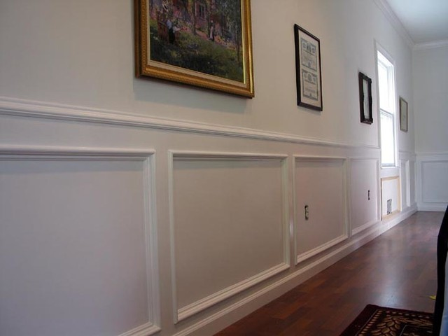 Recessed Panel Wainscoting Traditional Living Room