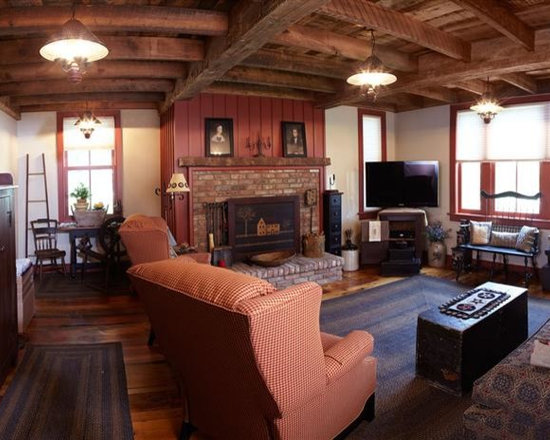 Reclaimed Barn Beams Projects in NYC, New Jersey & CT - Rough Sawn Interior Exposed Beams