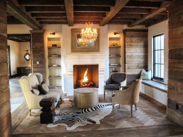 Reclaimed Barn Boards Contemporary Living Room