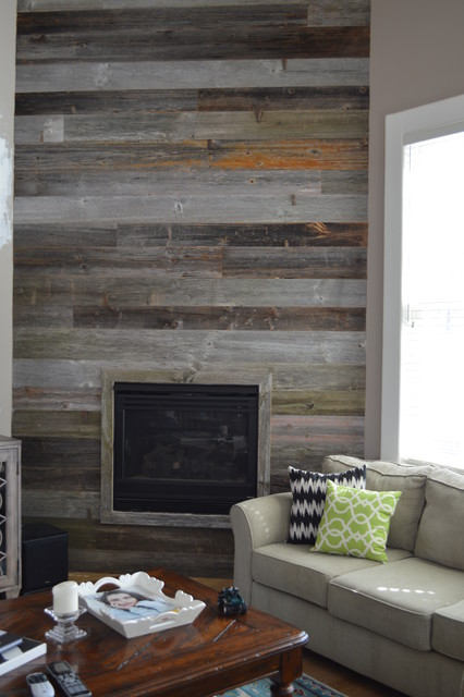 Reclaimed Barn Wood - Rustic - Living Room - other metro ...