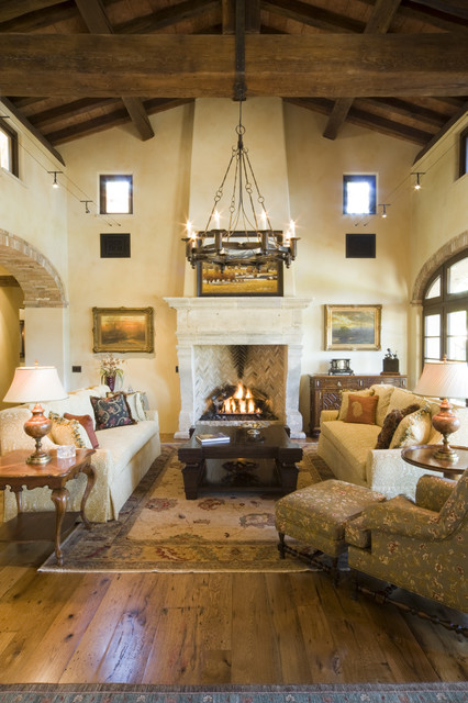 Living Room Denver : Reclaimed Beams & Reclaimed Oak Flooring - Rustic - Living ...