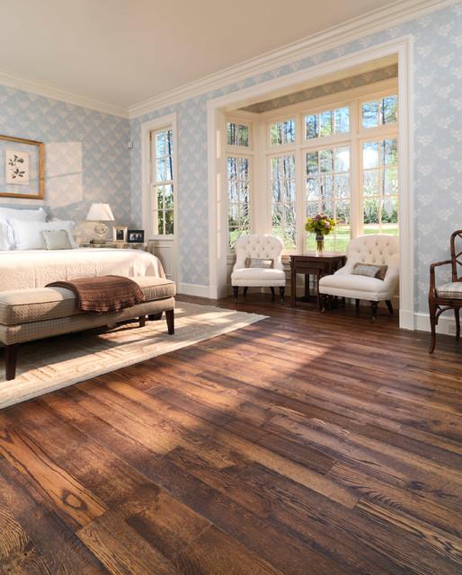 Reclaimed distressed oak traditional living room for Hardwood floor dealers