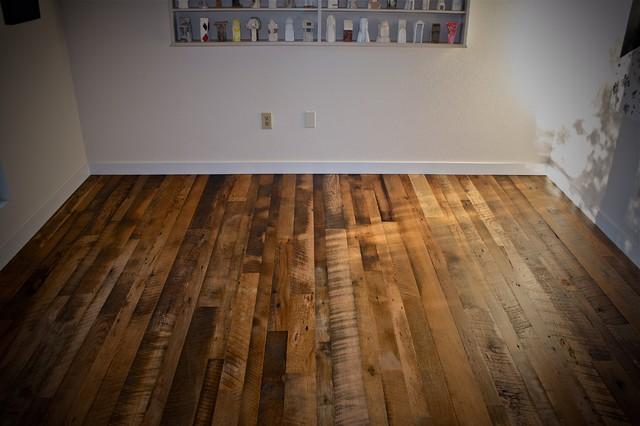 Reclaimed Flooring Modern Living Room Seattle By