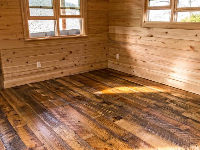 Reclaimed Heart Pine Flooring - Traditional - Living Room ...