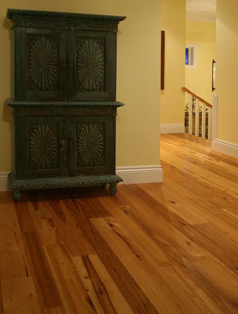 Reclaimed Hickory Hardwood Flooring traditional-living-room