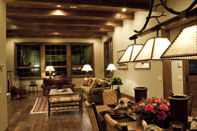 Reclaimed Pine Rustic Living Room Boise By Stromberg Moore Hardwoods