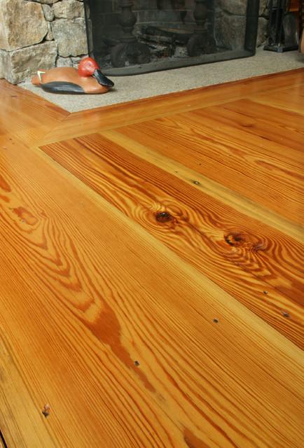 Reclaimed Rustic Heart Pine Flooring rustic-living-room