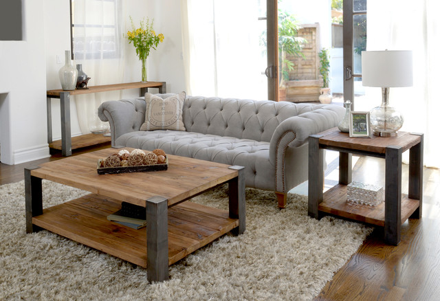 Reclaimed Rustic Wood And Iron Furniture Rustic Living Room Houston By Star Furniture