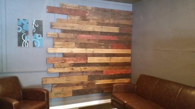 Reclaimed wood wall modern living room san diego for Reclaimed wood manufacturers