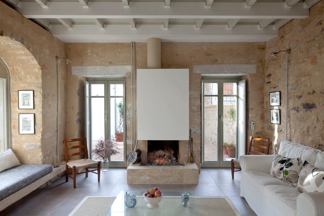 Modern table lamps for living room - Reconstruction Of A Stone House In Trahila Mani