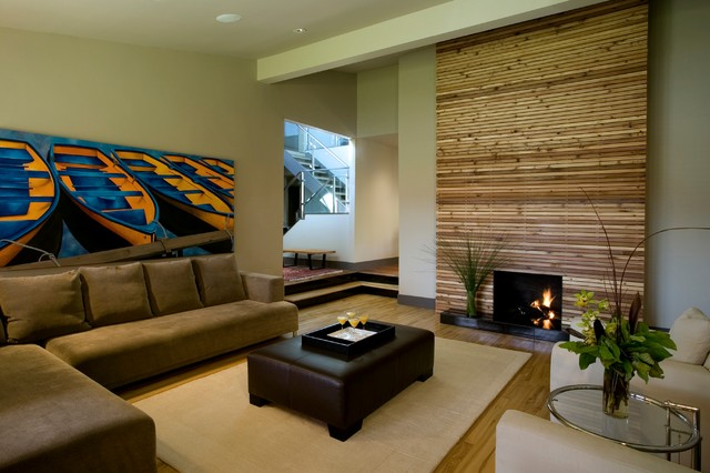 Perfect Example Of A Minimalist Living Room Design In Calgary