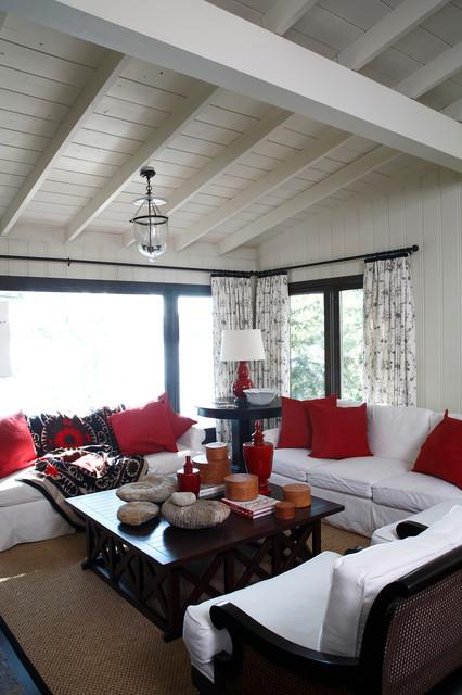 Houzz Cottage Living Room: Living Room