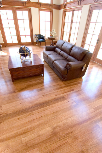 Red oak flooring modern living room other metro by for Living room ideas oak flooring